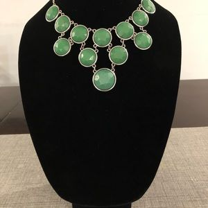 Green and silver fashion jewelry
